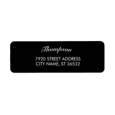 Professional Business Family Name Stylish Black Elegant Label