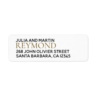 family name / surname with home address label
