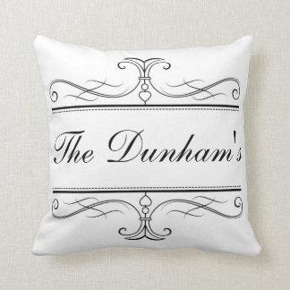 Family Name Throw Pillow Customizable