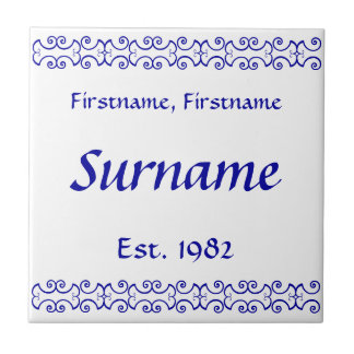Family Name Tile - Victorian