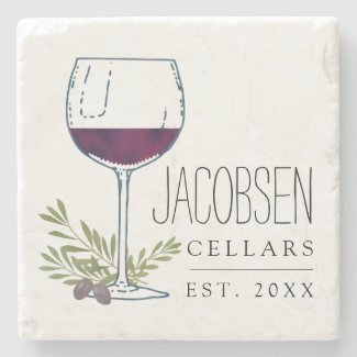 Wine Cellars Stone Coaster Customize With Your Family Name 4