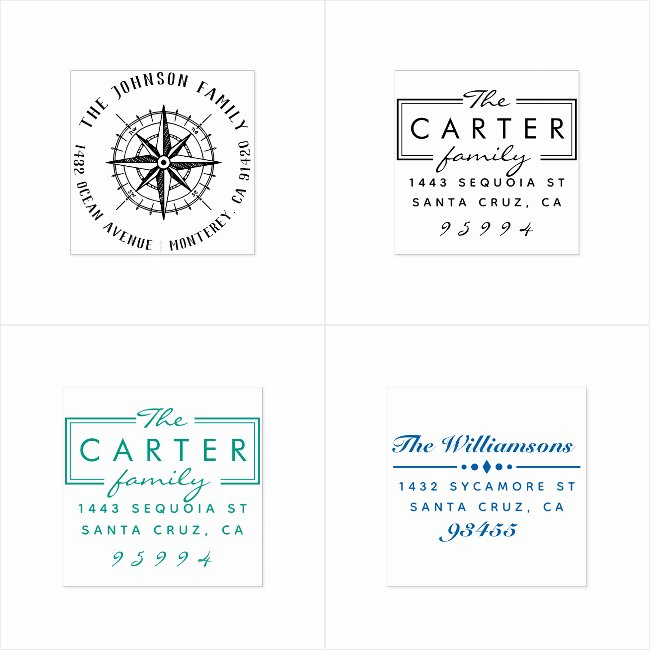 Family Names | By Rubber Stamps.