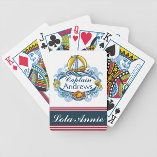 Family / Nautical Captain Playing Cards - SRF