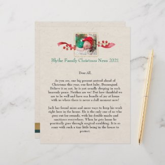 Family News Christmas Personalized Letterhead