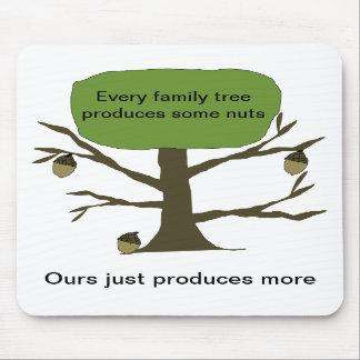 Family Nut Tree Mousepad