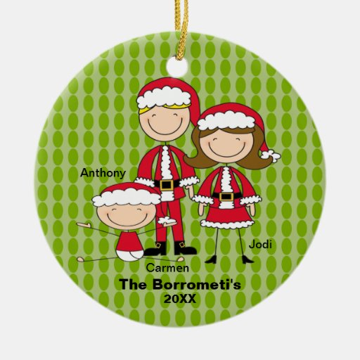 Family of 3 christmas ornament zazzle for Family christmas ornaments to make