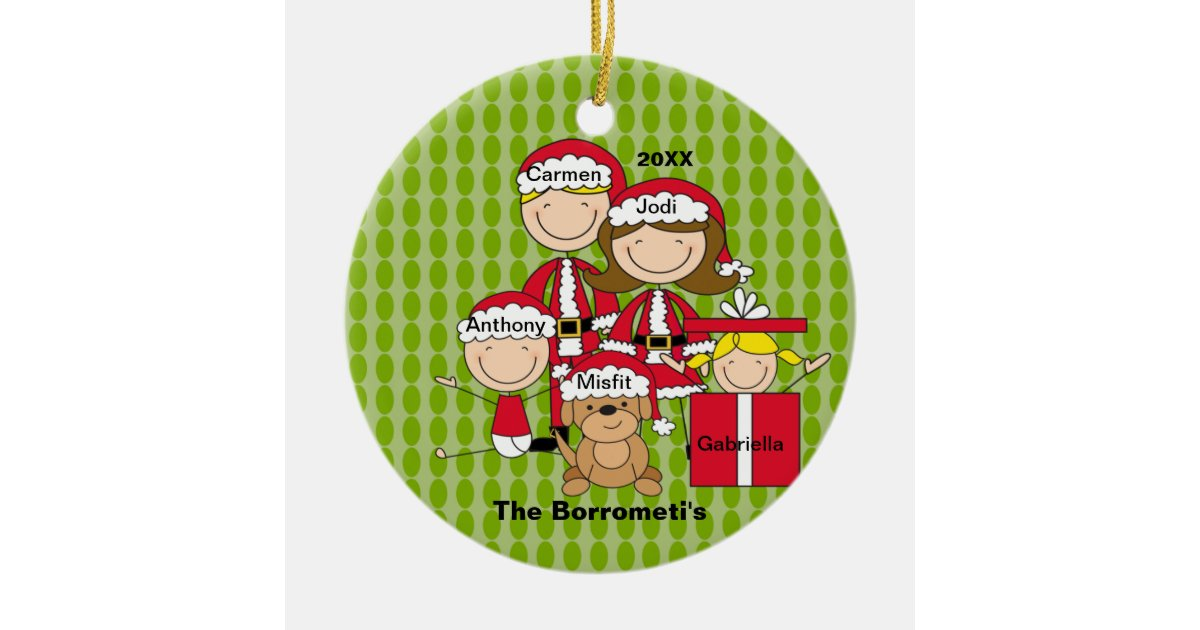 Family of 4 christmas ornament for Family of 4 christmas ornament