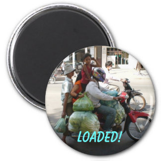 Family of 4 ... Loaded! Magnet