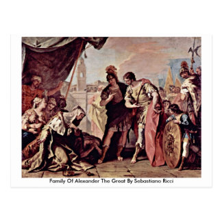 Family Of Alexander The Great By Sebastiano Ricci Postcard