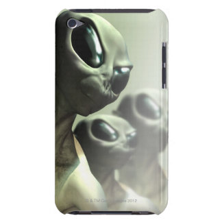 Family of aliens huddled together. iPod touch Case-Mate case