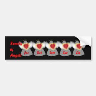 Family Of Angels_Customize Bumper Sticker