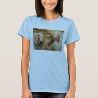 Family of Baboons Papio Hamadryas Cologne Zoo T-Shirt