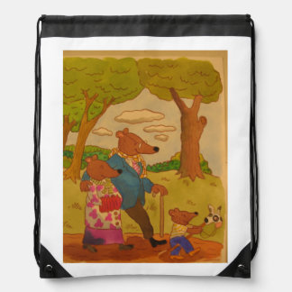 family of bears shows love is everything drawstring bag