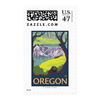 Family of Beavers Postage