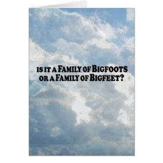Family of Bigfoots or Family of Bigfeet - Basic Card