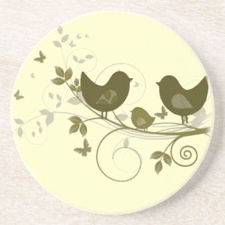 Family of Birds Coaster