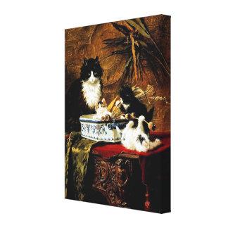 Family of Cats, Henriëtte Ronner-Knip Canvas Print