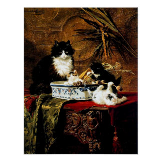 Family of Cats, Henriëtte Ronner-Knip Poster