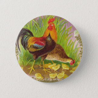 Family of Chickens Button