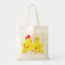 Family of Chickens Tote Bag