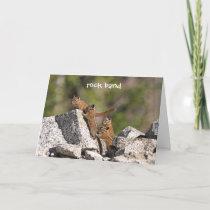 Family of Chipmunks Card