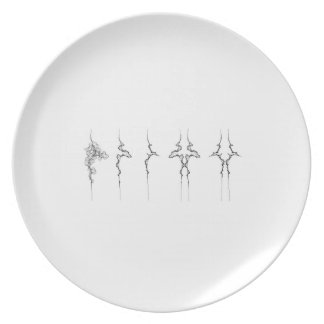 Family of Curves on Display on a Plate
