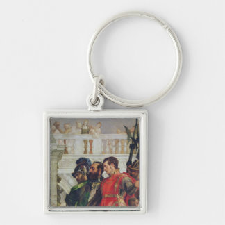 Family of Darius before Alexander the Great Key Chain