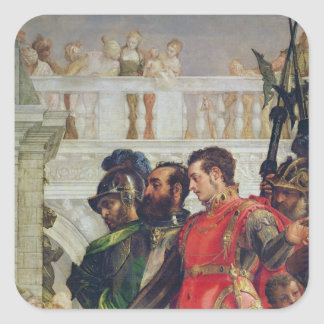 Family of Darius before Alexander the Great Square Sticker