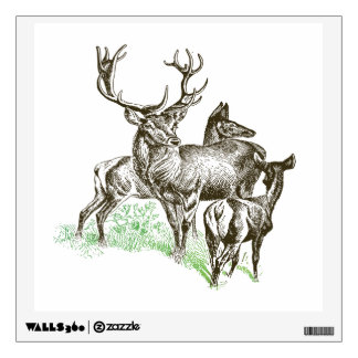 deer wall decals amp wall stickers zazzle large deer wall decal 171 decals and skins