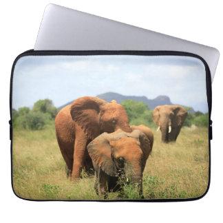 Family of elephants computer sleeve