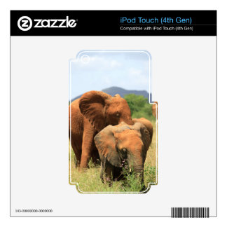 Family of elephants decal for iPod touch 4G