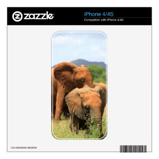 Family of elephants iPhone 4 decals