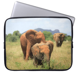 Family of Elephants, Kenya Laptop Sleeve