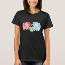 Family Of Elephants Mom Dad And Baby T-Shirt