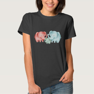 Family Of Elephants Mom Dad And Baby Tshirts