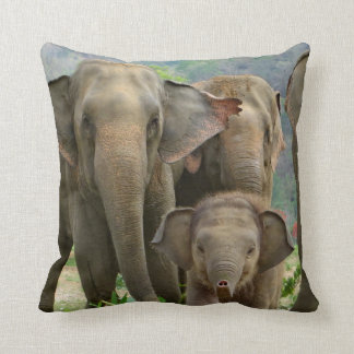 FAMILY OF ELEPHANTS PILLOW