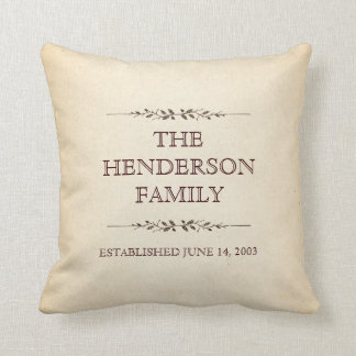 Family of Five Important Events Commemorative Pillow