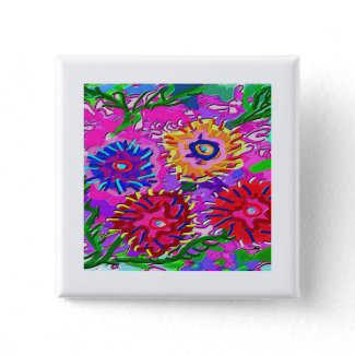 Family of flowers button
