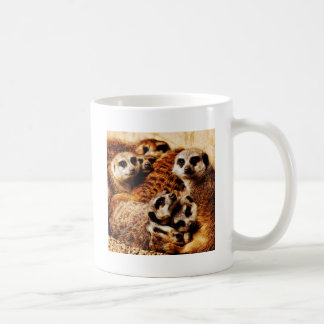 Family of Meerkats Coffee Mug
