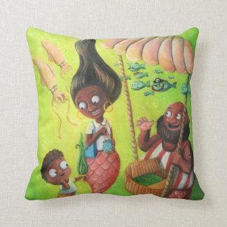 Family of Mermaids Throw Pillows