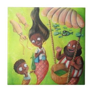 Family of Mermaids Tile