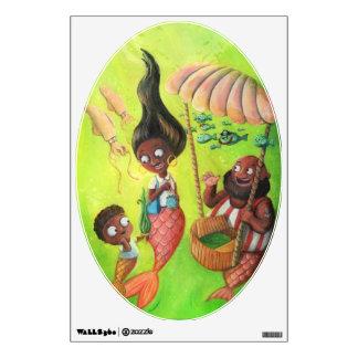 Family of Mermaids Wall Sticker