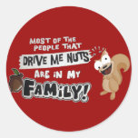 Family of Nuts Classic Round Sticker