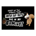 Family of Nuts Greeting Card