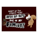 Family of Nuts Stationery Note Card