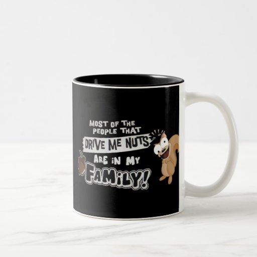 Family of Nuts Two-Tone Coffee Mug