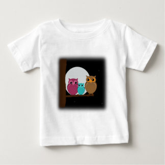 Family of Owls Baby T-Shirt
