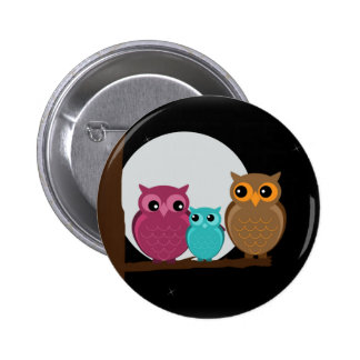 Family of Owls Buttons