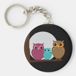 Family of Owls Key Chains