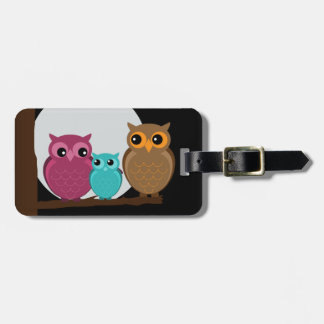 Family of Owls Tag For Bags